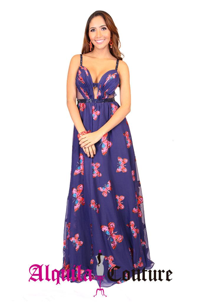 Increíble Vestido De Cóctel Tropical Embellecimiento - Vestido de ...